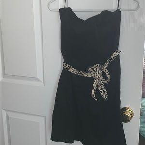 Black Strapless Dress w/ Belt